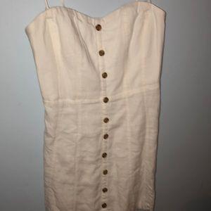 Urban white button down dress